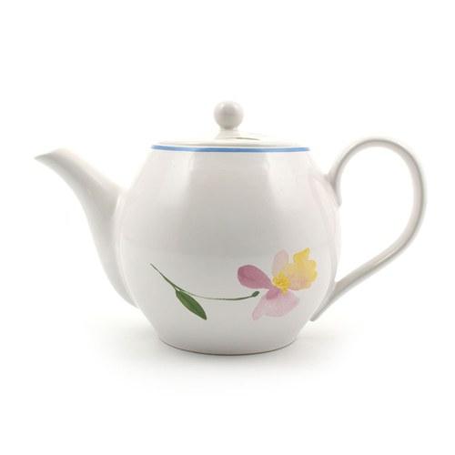 荷蘭FloraCastle 粉晶色飄香花圖紋茶壺