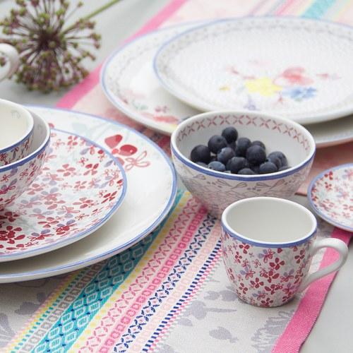荷蘭FloraCastle 灰色花朵圖紋茶巾