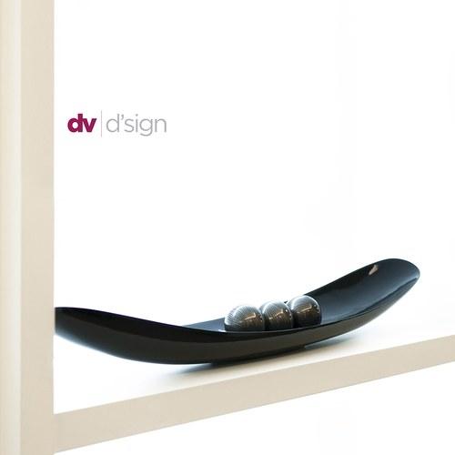 比利時DVDsign藝術擺飾 微笑弧型托盤 (細線黑、長109公分)