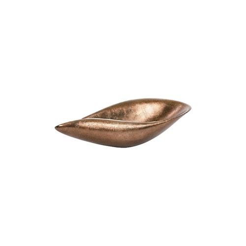 比利時DVDsign藝術擺飾 海芋花瓣造型托盤 (霧面古銅、長53公分)