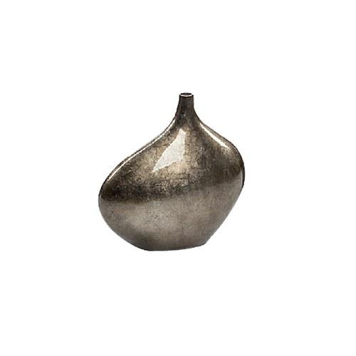 比利時DVDsign藝術擺飾 歐式細雕刻花器 (亮面暖銀、高36公分)