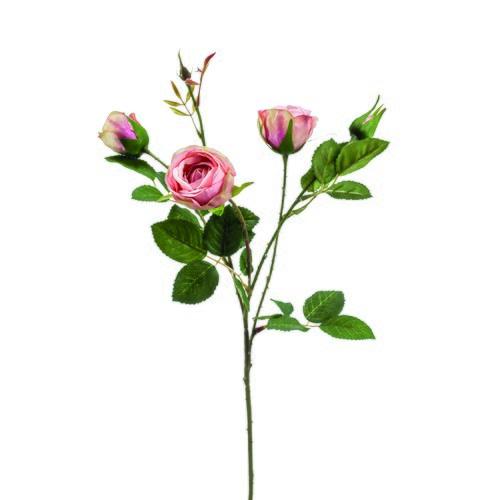 荷蘭Emerald人造花藝 粉紅色玫瑰花 (長60公分)