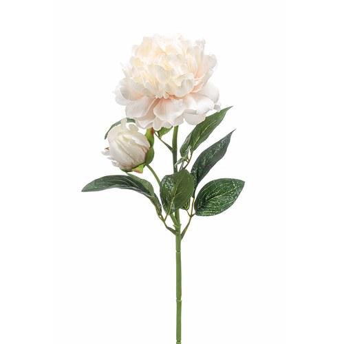 荷蘭Emerald人造花藝 粉白色牡丹花 (長73公分)
