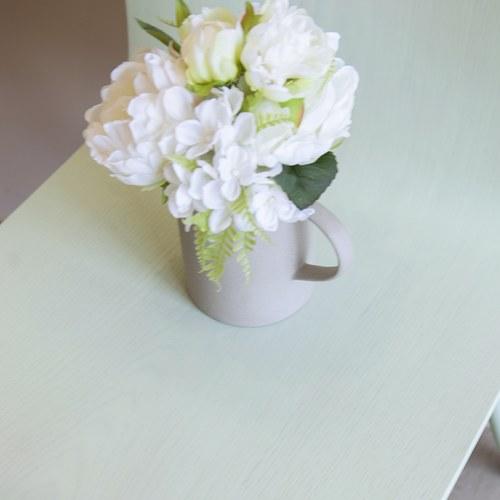 荷蘭Emerald人造花藝 白色繡球牡丹花束