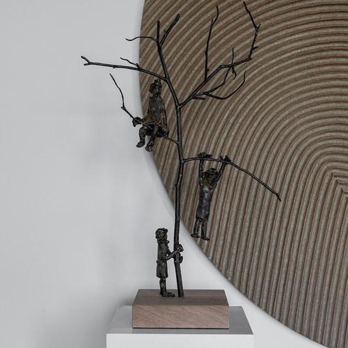 比利時Gardeco藝術擺飾 樹林間的嬉戲