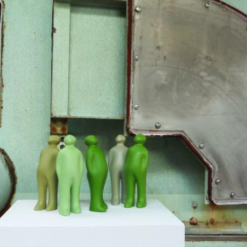 比利時Gardeco藝術擺飾 經典觀賞者 (茶綠、高38公分)