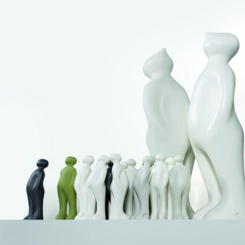 比利時Gardeco藝術擺飾 經典觀賞者 (黑、高38公分)
