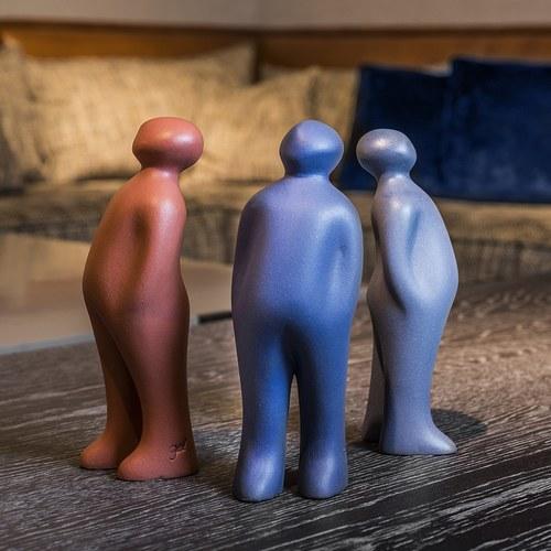 比利時Gardeco藝術擺飾 經典觀賞者 (粉、高23公分)