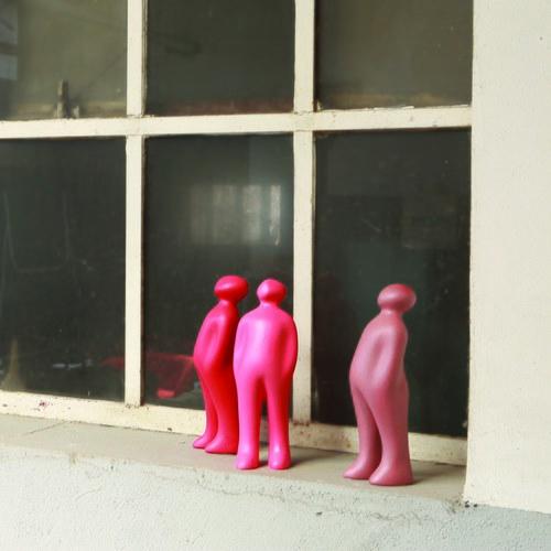 比利時Gardeco藝術擺飾 經典觀賞者 (粉紫、高23公分)