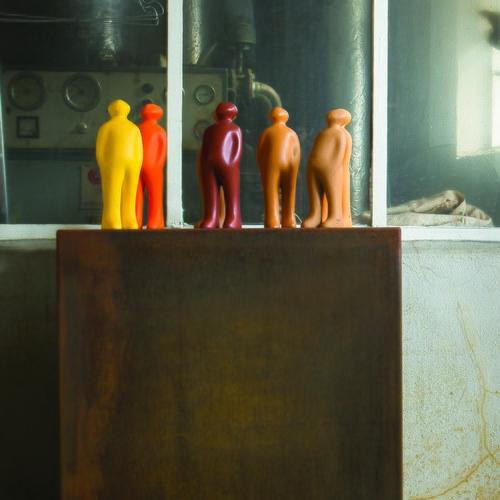 比利時Gardeco藝術擺飾 經典觀賞者 (酒紅、高23公分)