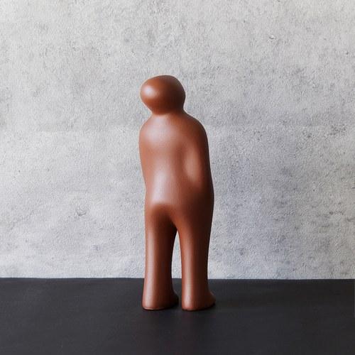比利時Gardeco藝術擺飾 經典觀賞者 (可可棕、高23公分)