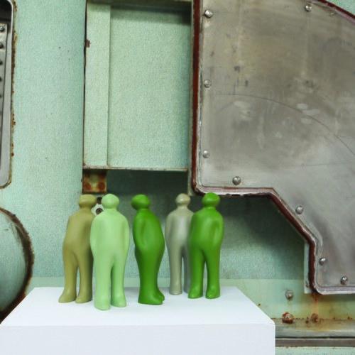 比利時Gardeco藝術擺飾 經典觀賞者 (茶綠、高23公分)