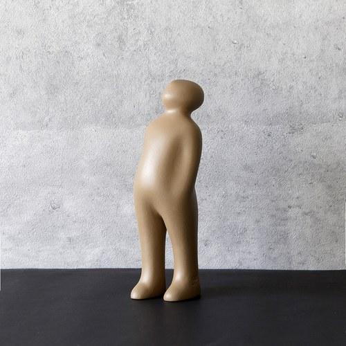 比利時Gardeco藝術擺飾 經典觀賞者 (卡其、高23公分)