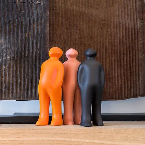 比利時Gardeco藝術擺飾 經典觀賞者 (黑、高23公分)