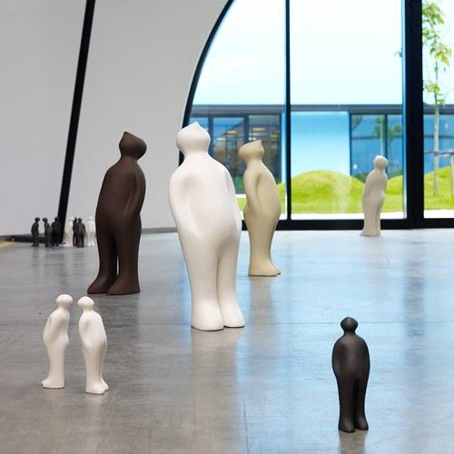 比利時Gardeco藝術擺飾 經典觀賞者 (雲灰、高23公分)