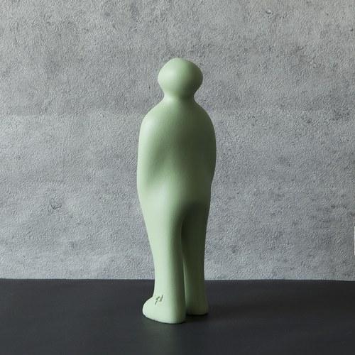 比利時Gardeco藝術擺飾 經典觀賞者 (嫩綠、高23公分)