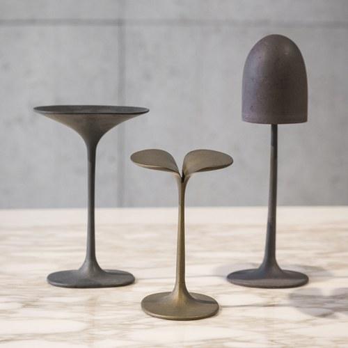比利時Gardeco藝術擺飾盤狀金屬蘑菇