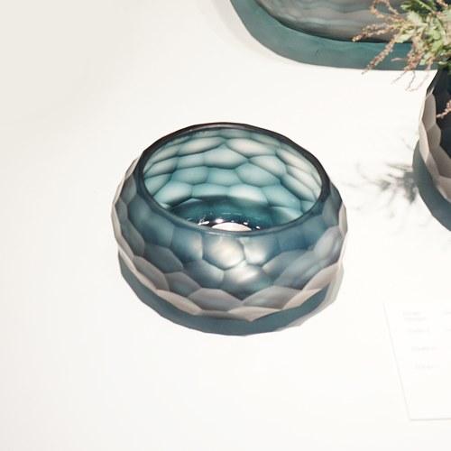 德國Guaxs玻璃燭台 SOMBA系列 (洋藍、高8公分)