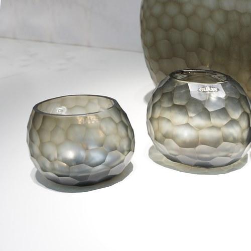 德國Guaxs玻璃燭台 SOMBA系列 (灰褐、高8公分)