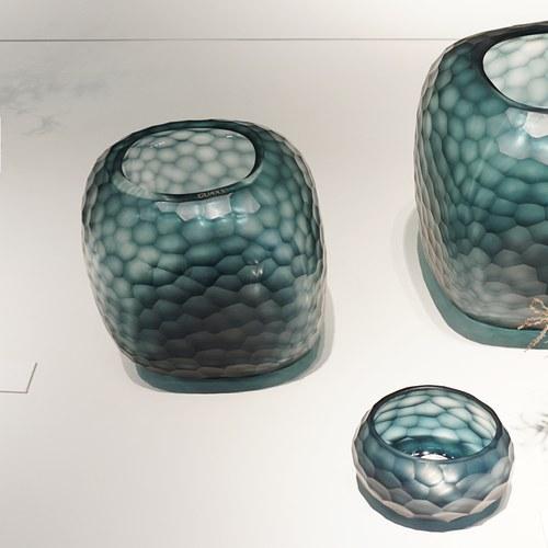 德國Guaxs玻璃花器 SOMBA系列 (洋藍、高20公分)