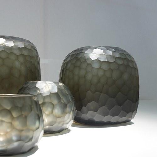 德國Guaxs玻璃花器 SOMBA系列 (灰褐、高20公分)
