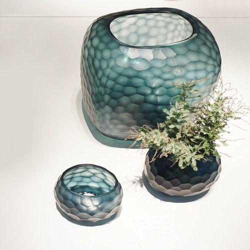 德國Guaxs玻璃花器 SOMBA系列 (洋藍、高26公分)