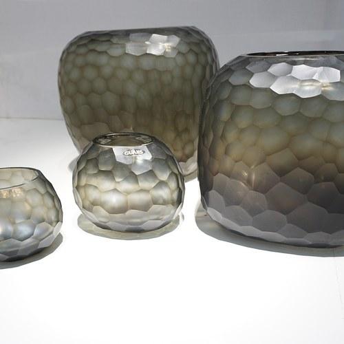 德國Guaxs玻璃花器 SOMBA系列 (灰褐、高26公分)