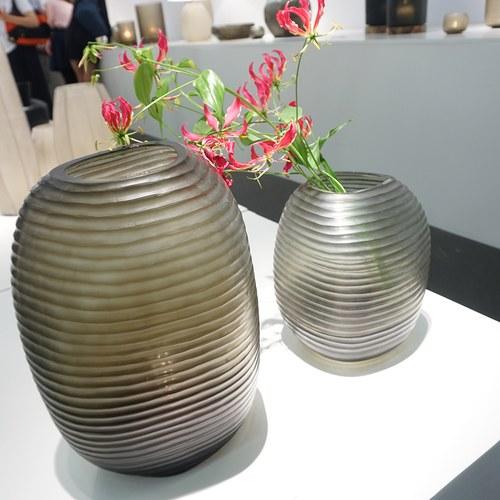 德國Guaxs玻璃花器 PATARA系列 (灰褐、高42公分)