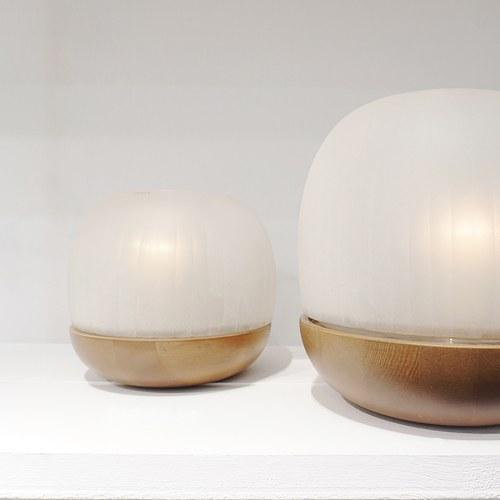 德國Guaxs玻璃燭台 NAMSAM系列 (霧白、高24公分)