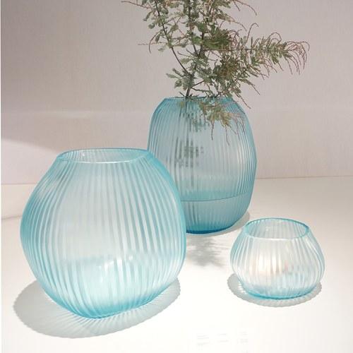 德國Guaxs玻璃花器 NAGAA系列  (天空藍、高20公分)