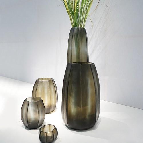 德國Guaxs玻璃花器 KOONAM系列 (灰褐、高40公分)
