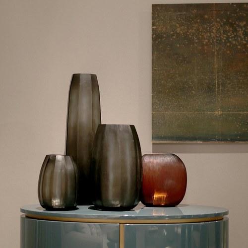 德國Guaxs玻璃花器 KOONAM系列 (灰褐、高68公分)
