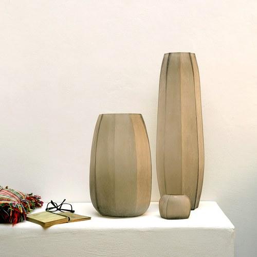 德國Guaxs玻璃燭台 KOONAM系列 (煙燻灰、高6公分)