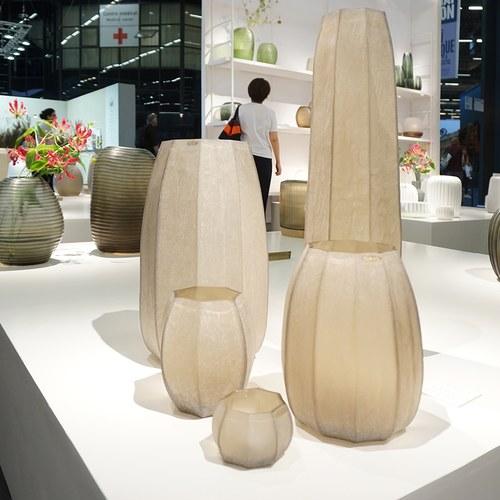 德國Guaxs玻璃花器 KOONAM系列 (煙燻灰、高16公分)