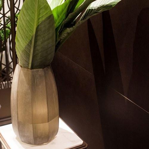 德國Guaxs玻璃花器 KOONAM系列 (煙燻灰、高40公分)