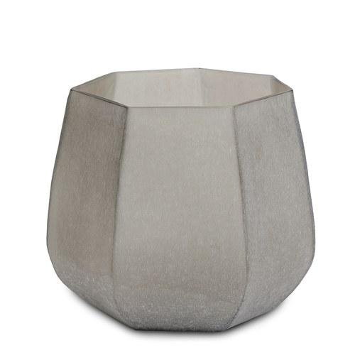 德國Guaxs玻璃花缽 KOONAM系列 (煙燻灰、高24公分)