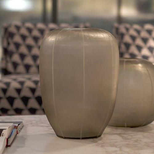 德國Guaxs玻璃花器 GOBI系列 (淺褐、高45公分)