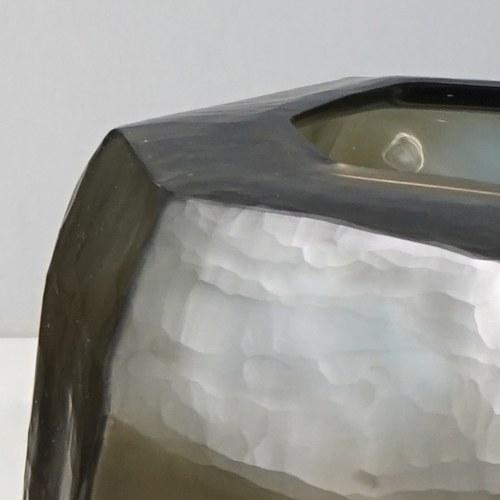 德國Guaxs玻璃花器  CUBISTIC系列 (灰褐、高27公分)