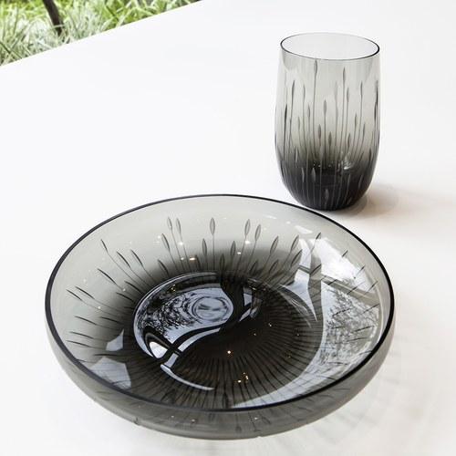 德國Guaxs玻璃水杯 ANDAURAY系列 (灰、350毫升)