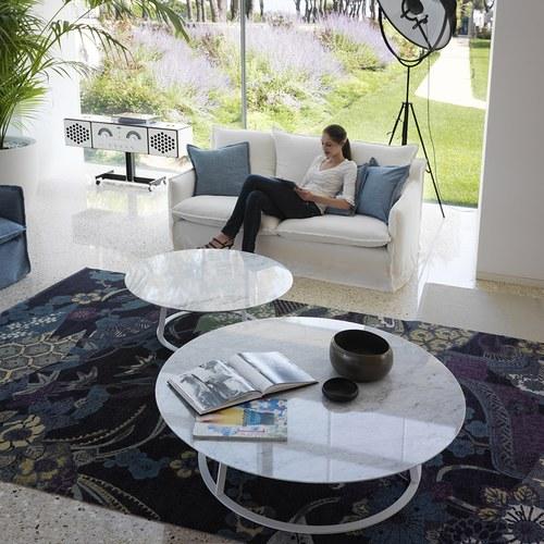 義大利HORM ALBINO FAMILY 大理石咖啡桌 (白、直徑120公分)