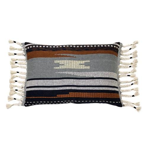 荷蘭HkLiving 落日民族風流蘇編織靠枕
