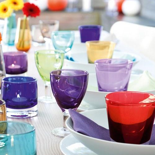 英國LSA 艷彩透底廣口玻璃杯 (萊姆綠)
