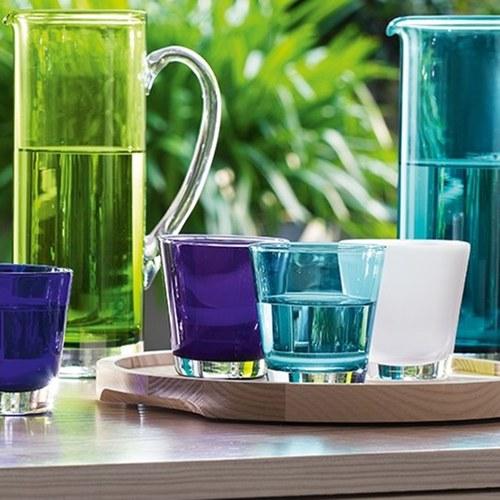 英國LSA 艷彩透底廣口玻璃杯 (孔雀藍)