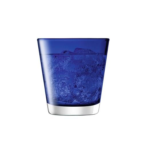 英國LSA 艷彩透底廣口玻璃杯 (鈷藍)
