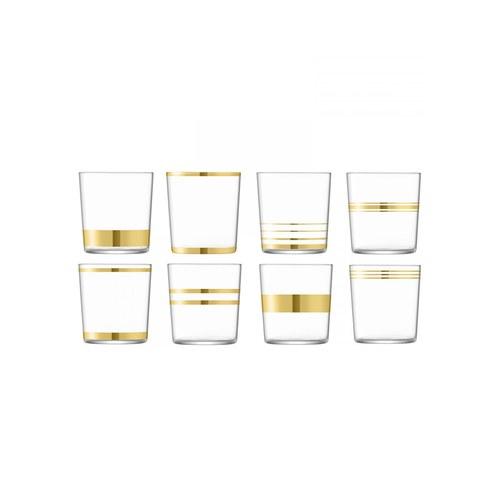 英國LSA 金絲系列威士忌杯8入組