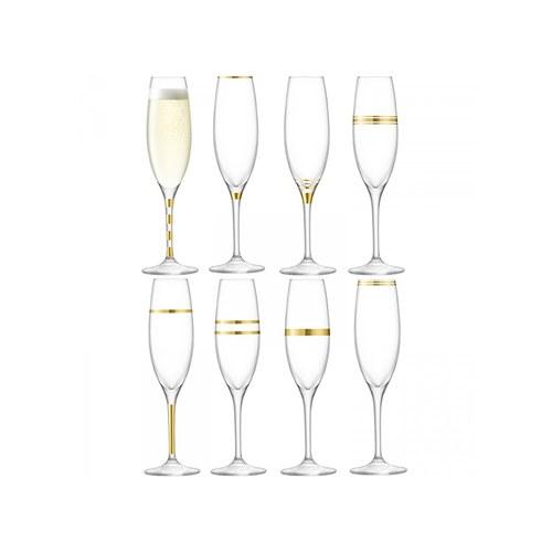 英國LSA 金絲系列香檳杯8入組