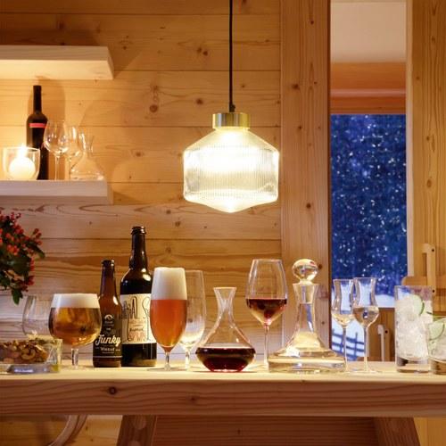 英國LSA 經典酒吧廣口玻璃杯4入組 (225毫升)