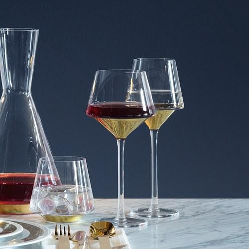 英國LSA 奢華金底紅酒杯2入組 (金)