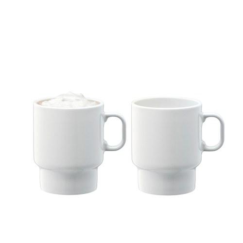 英國LSA 純白日光咖啡杯2入組 (380毫升)