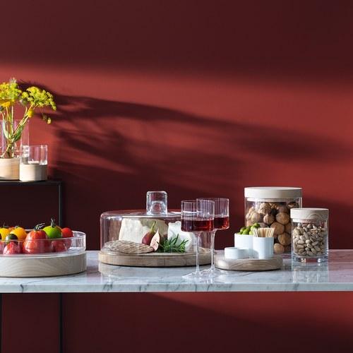 英國LSA 木蓋圓玻璃收納罐 (直徑10公分)